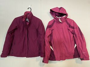 Columbia Womens 3 in 1 Jacket Size Medium Pink