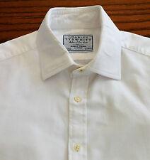 White cotton cufflink shirt Collar size 16 Charles Tyrwhitt Jermyn Street mens