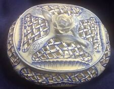 VINTAGE ST CLEMENT FAIENCE FRENCH POTTERY HAND PAINTED DISH