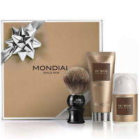 Mondial 1908 Mens Gift Pack Nº908-III Luxury Shaving Cream After Shave Gel Badge