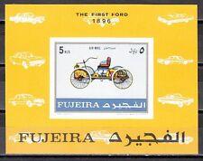 Fujeira, Mi cat. 619, BL40 B. Antique Car, IMPERF s/sheet.