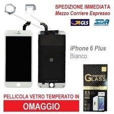 TOUCH SCREEN FRAME LCD DISPLAY RETINA SCHERMO PER APPLE IPHONE 6 PLUS BIANCO