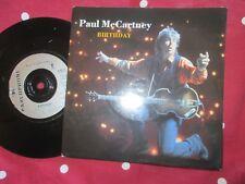 Paul McCartney – Birthday Parlophone Records R6271 UK  7inch Vinyl Single