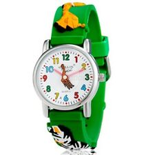 New Green giraffe zebra boys girls Children 3D cartoon Silicone Sport Watch WS3