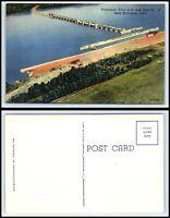 IOWA Postcard - Burlington, Mississippi River Lock & Dam K55