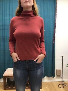 Postcard M Burnt Orange Cashmere/Angora Blend Turtle Neck Sweater
