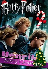 HARRY POTTER   Personalised Christmas Card!  FREE 1st Class Shipping!   CHRLAS16