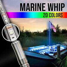 MT 5' Boat LED Whip - Waterproof, Remote, 22 Functions - Mast Light