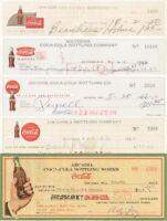 Coca-Cola Bottling Company Collection of Checks (Coke)