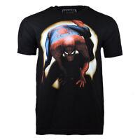 SPIDER-MAN  Men's T-Shirt -MARVEL COMICS- Spotlight Spidey BLACK S, M, L, XL,2XL