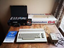 1987 Commodore 64 Computer + 18 time warp condition games Boxed & instructions