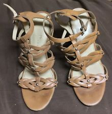 Ivanka Trump Strappy Beige Wedge Sandals Size 7.5
