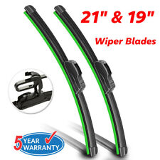 "21""& 19"" Windshield Wiper Blades OEM Quality Beam Premium Hybrid silicone J-Hook"