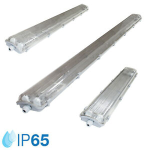 SET LED Feuchtraumleuchte IP65 60cm/120cm/150cm Wannenleuchte inkl. LED T8 G13