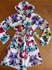 NEW Plush Soft Robe size 7/8 NWT fleece Raccoon Animal warm winter girls belted
