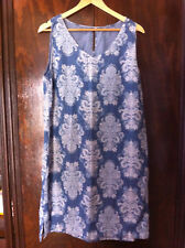 STYLISH SUZANNE GRAE DENIM FLORAL DRESS SIZE: 14? BNWOT