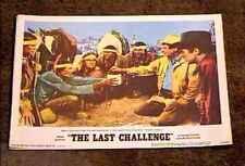 LAST CHALLENGE 1967 LOBBY CARD #2 AMERICAN INDIAN