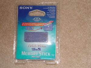 SONY MEMORY STICK MSA-128S2 256MB MEMORY SELECT FUNCTION 128MB BRAND NEW SEALED