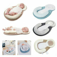 Baby Pillow Portable Breathable Sleep Cushion Pad Newborn Crib Nest Bed Mattress