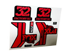 forcella Fox 32 Factory SC rosso nero lucido  - adesivi/adhesives/stickers/decal