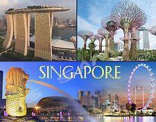 SINGAPORE (collage) - Travel Souvenir Flexible Fridge Magnet