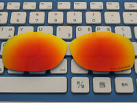 Replacement Fire Red Polarized Lenses for-Oakley Sideways Sunglasses