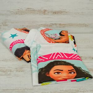 Disney Moana Twin Sheet Set Pillowcase Flat Fitted