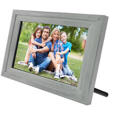 "Life Made Digital Touch-Screen 13"" Picture Frame with Wi-Fi - Silver Wood - SLRB"