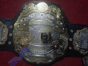 IWGP Heavyweight Championship Wrestling Belt Dual Plated (2mm Brass)