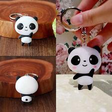 Cartoon Panda Keychain Keyring Bag Cute Kawaii Silicone Pendant Key Ring Chain