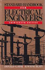 STANDARD HANDBOOK FOR ELECTRICAL ENGINEERS di Fink e Beaty 1993 MCGRAW HILL