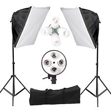 New Photo Video Studio Photography Continuous Light Soft Box Kit 1Year Warranty