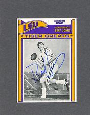 Bert Jones signed LSU 1993 Sunbeam Bread football card