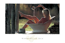 WESTERN ART PRINT - COWGIRL IN TUB by David R. Stoecklein Cowboy Poster 24x36