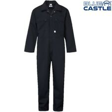 "BLUE CASTLE ZIP FRONT COVERALLS MENS 34-60"" CHEST WORKWEAR OVERALLS BOILERSUIT"