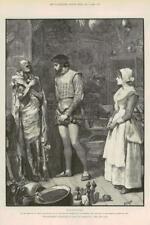 1890-FINE ART PRINT aventures Phra phénicien Paget Scholar Sword (072)