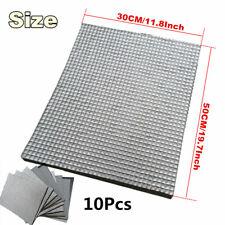 10x 30*50cm Sound Deadener Heat,Self-Adhesive Door Hood Trunk Firewall Ceiling