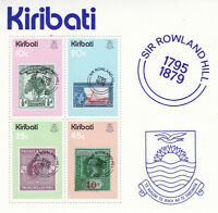 KIRIBATI 1979 ROWLAND HILL CENTENARY MINIATURE SHEET MNH