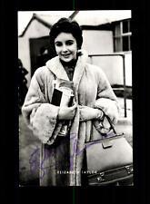 Elizabeth Taylor Netter Verlag Autogrammkarte Original Signiert ## BC 113044