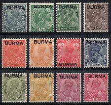 Burma 1937 Set To 12a SG 1 - 12 MM