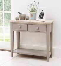 FLORENCE Dove Grey Console Table, kitchen hallway console table, 2 drawers,shelf