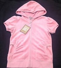 NWT Juicy Couture New Genuine Ladies Small UK 8/10  Dusky Pink Velour Hoodie