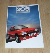 PEUGEOT 205 GTI brochure 1987-dont 1.6 GTi & T16 Fonction