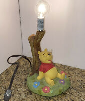 Winnie The Pooh Disney Hampton Bay Table Nursery Lamp Sitting by Tree Bee Nose