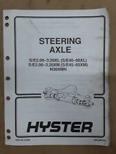 Hyster Steering Axle Manual 910460, 1600 SRM 258