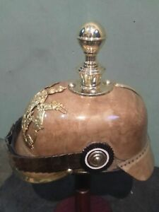 Halloween Prussian Helmet German Leather Pickelhaube Helmet With Liner