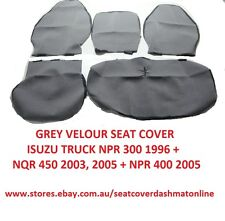 SEAT COVER FIT ISUZU NQR 450,NPR 300,400 WIDE CAB WITH CENTRE FOLD,PLAIN GREY
