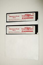 "#1 IBM PC AD&D Dragons of Flame 5.25"" 5-1/4"" Disk A B Untested TSR SSI"