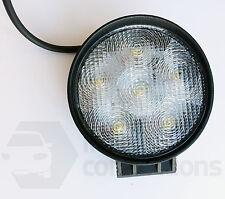 18W 6 LED round worklamp spot flood beam light 12v 24v offroad tractor truck van