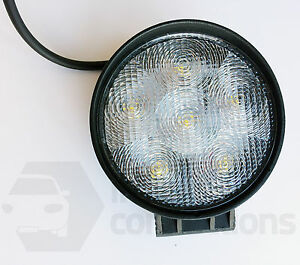 18W 6 LED round worklamp spot flood beam light 12v off road tractor truck van  e
